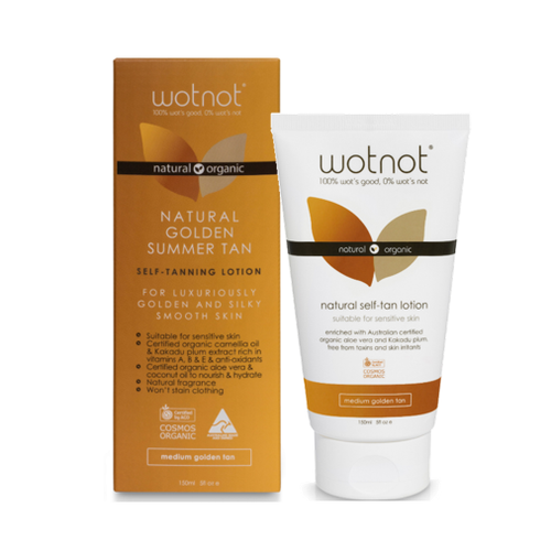WOTNOT Natural Self-tan Lotion Medium Golden Tan