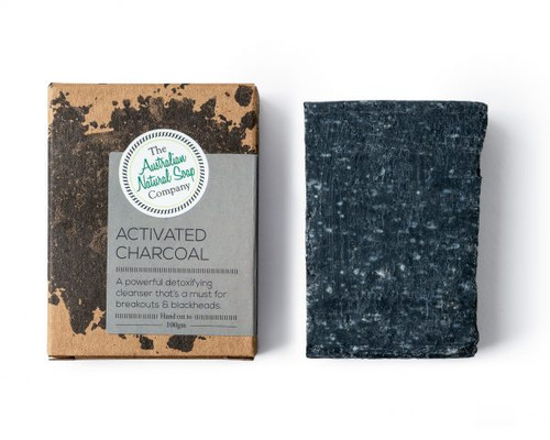 THE AUSTRALIAN NATURAL SOAP CO Face Soap Bar Activated Charcoal
