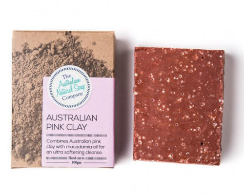 THE AUSTRALIAN NATURAL SOAP CO Face Soap Bar Australian Pink Clay