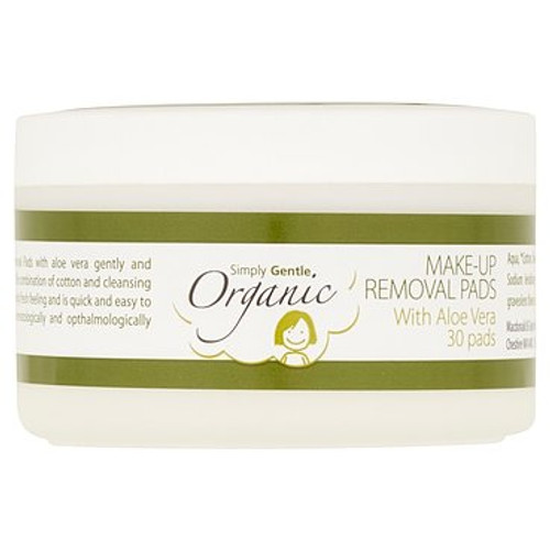 SIMPLY GENTLE ORGANIC Facial Cleansing Pads With Organic Aloe Vera