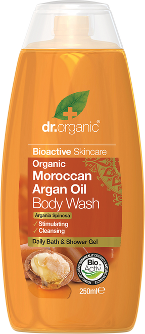 DR ORGANIC Body Wash Organic Moroccan Argan Oil
