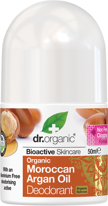 DR ORGANIC Roll-on Deodorant Organic Moroccan Argan Oil