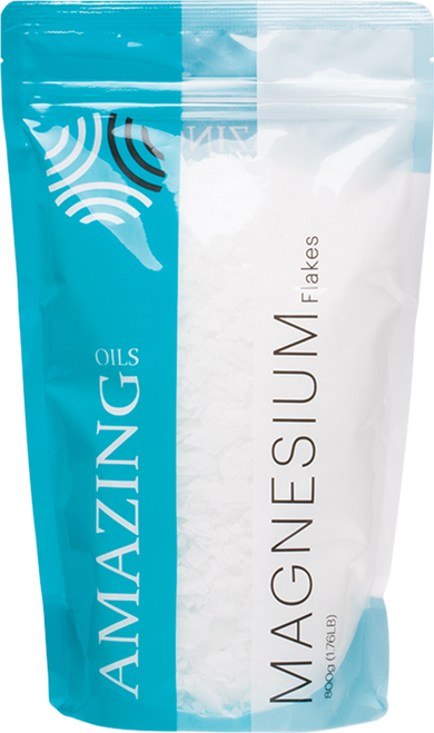 AMAZING OILS Magnesium Bath Flakes Natural Relief (Various Sizes)