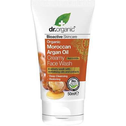 DR ORGANIC Creamy Face Wash (mini) Organic Moroccan Argan Oil
