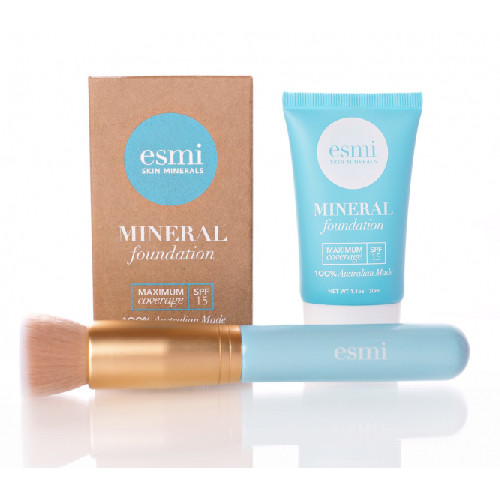 Esmi Mineral Foundation and Brush