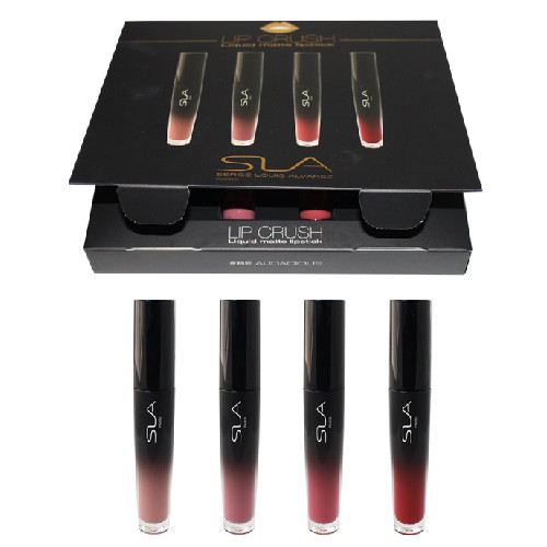 SLA Lip Crush Kit - 4x Liquid to Matte Lipstick