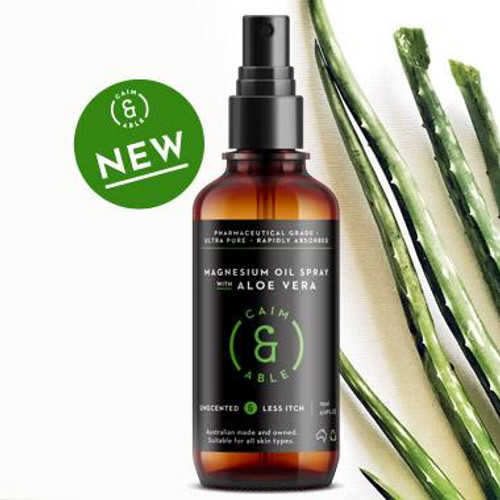 Caim & Able Unscented Less-itch Magnesium Oil Spray With Aloe Vera