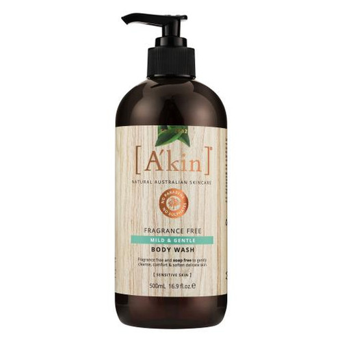 A'kin Fragrance Free Mild And Gentle Body Wash