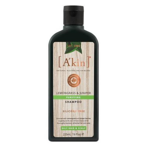 A'kin Purifying Lemongrass & Juniper Shampoo 225mL