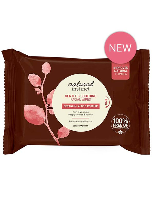 Natural Instinct Gentle and Soothing Facial Wipes