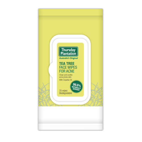Thursday Plantation Tea Tree Face Wipes for Acne
