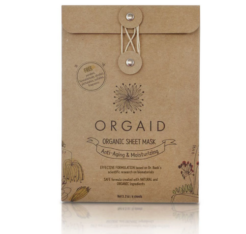 Orgaid Organic Sheet Mask Anti-aging & Moisturizing Pack