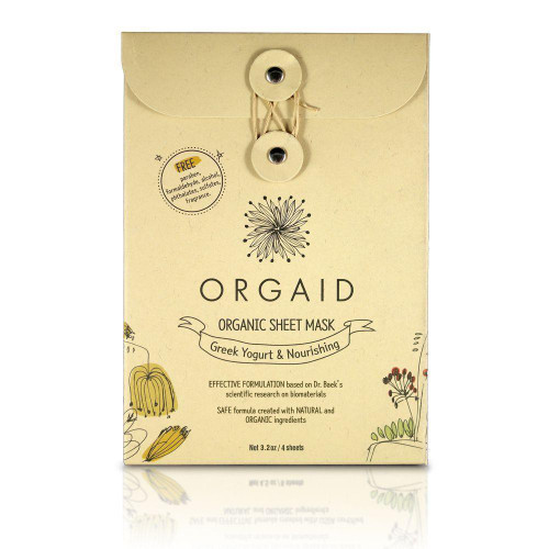 Orgaid Organic Sheet Mask Greek Yogurt & Nourishing  Pack