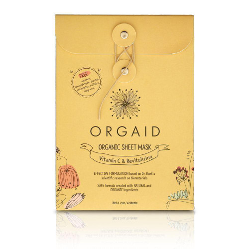 Orgaid Organic Sheet Mask Vitamin C & Revitalizing Pack
