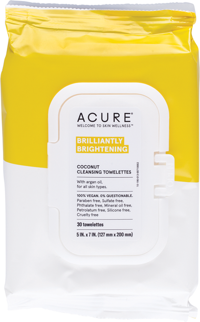 ACURE Brilliantly Brightening Coconut Cleansing Towelettes