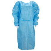 Disposable Medical Gowns with Elastic Cuffs / Nonwoven Isolation Clothing / Protective Coveralls – 10 Pack – 2.99 Each