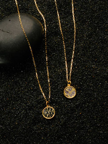 Gold Arctic Circle Necklace - Reversible