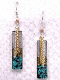 Handcrafted Fish Leather Earrings, made in the USA by Moonrise Jewelry