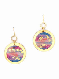 "Morning Run – Gold 1"" Dangle Disc Earrings"