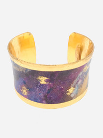 """Enchanted Wonder"" 1.5 Inch Corset Cuff Bracelet that is inspired from an original painting by local artist Abbi Custis. Handmade in the USA."