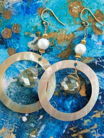 Tampa Earrings, Handcrafted in Cape Charles, VA by Moonrise Jewelry