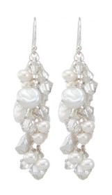 Plantation Earrings - White