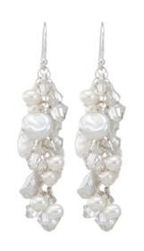 Plantation Earrings - White