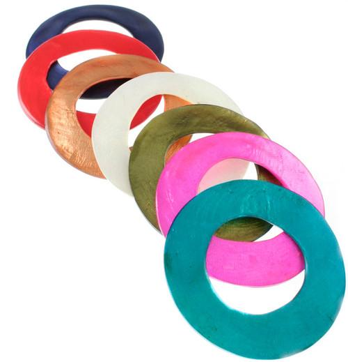 Large Capiz Shell Ring Pendant