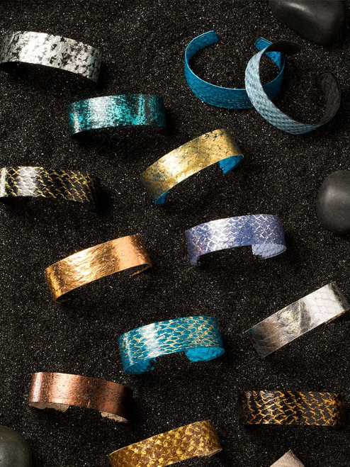 Narrow Fish Leather Bracelets (Adjustable Fit)