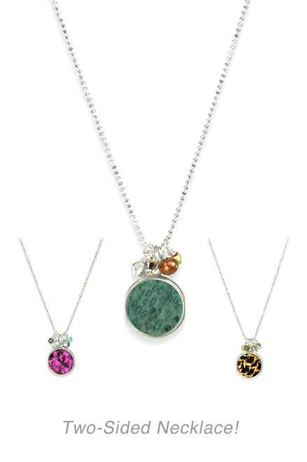 Arctic Circle Necklace ~ Two Sided!