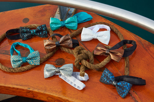 Classic Fish Leather Bow Tie