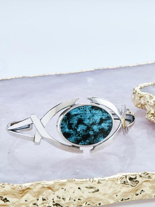 Blue + Black Perch