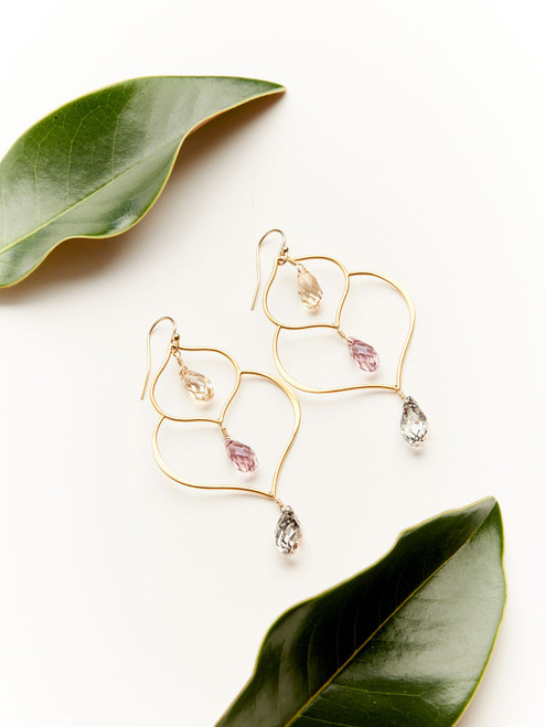 Gold Madrid Earrings, handcrafted by Moonrise Jewelry in Cape Charles