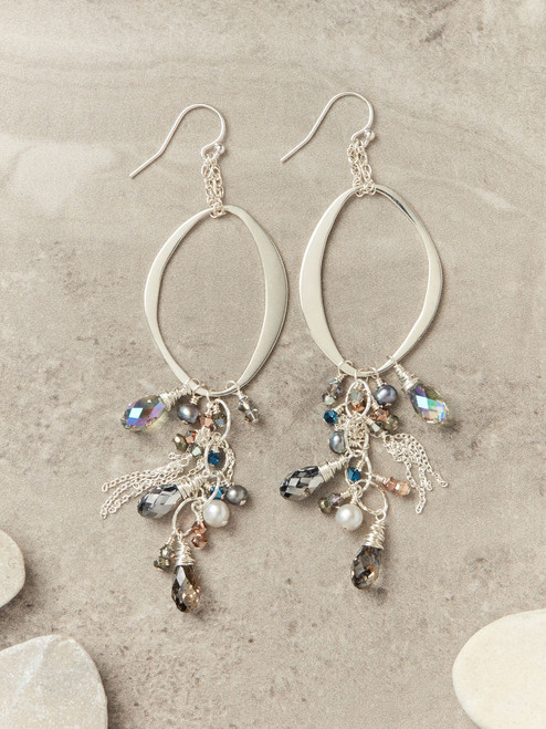 Mason Avenue Earrings - Silver
