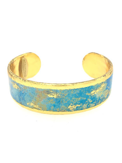 Italian Hand-gilding 22K Gold with Enamel