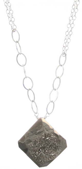 Delhi Necklace- Silver/Grey