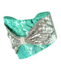 Sea Green + Silver Bow