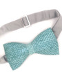 Light Green Salmon Fish Leather Bow Tie