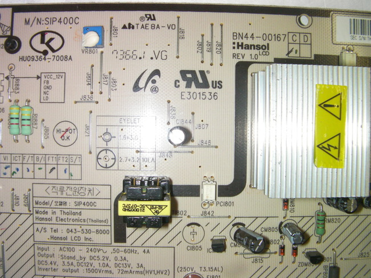 "Samsung 40/"" LN-T4061F BN44-00167A LCD Power Supply Board Unit"