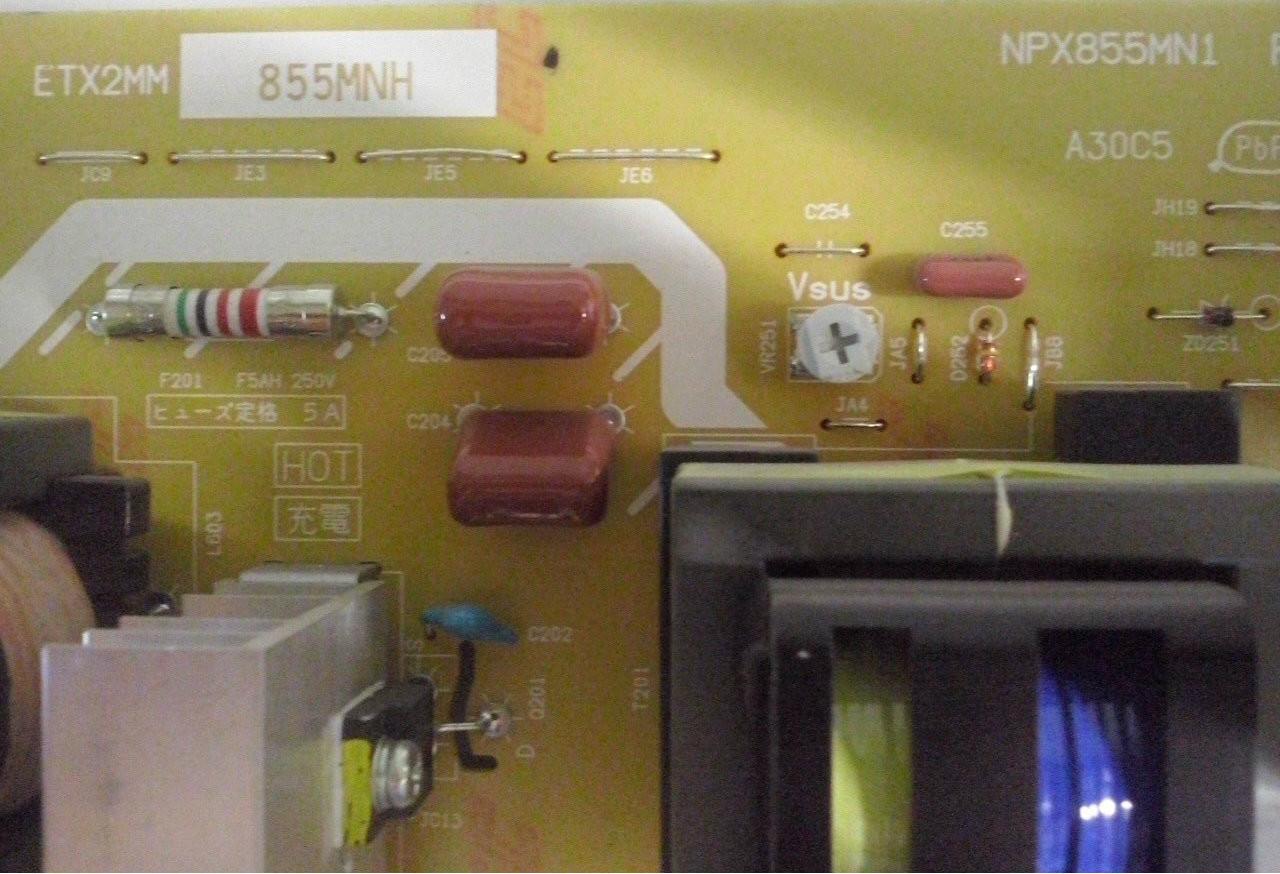 PANASONIC, TH-50PF50U, POWER SUPPLY, ETX2MM855MNH, NPX855MN1