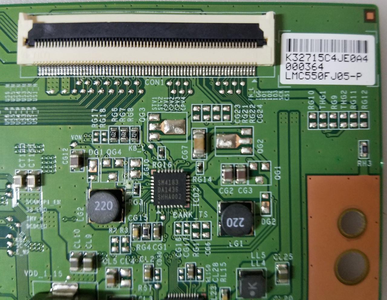 PANASONIC, TC-55CX650U, T-CON BOARD, LJ94-32715C, 15YA2FU13TSTLTG2_V0.0