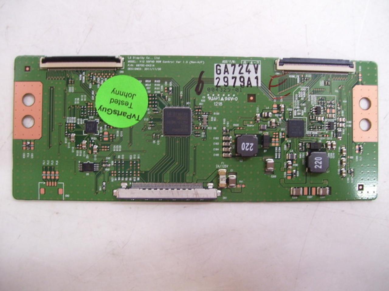 LG 55LS4500-UD 6870C-0401B T-CON BOARD