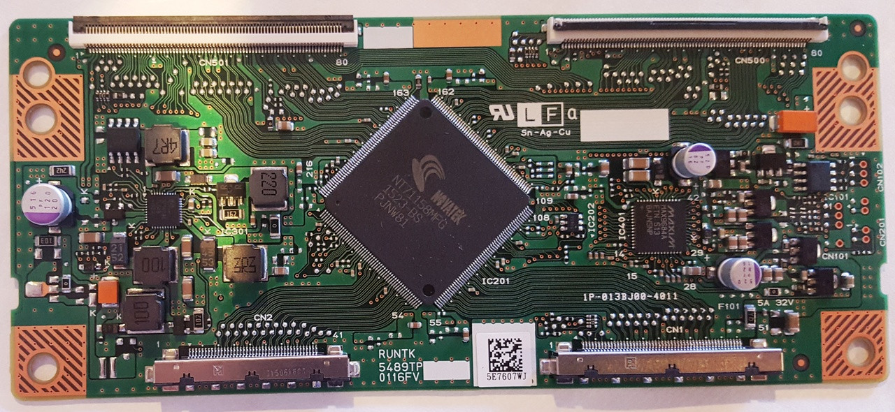 VIZIO D70-D3  T-CON BOARD RUNTK5489TP / 1P-013BJ00-4011 WITH CONNECTOR AT CN2