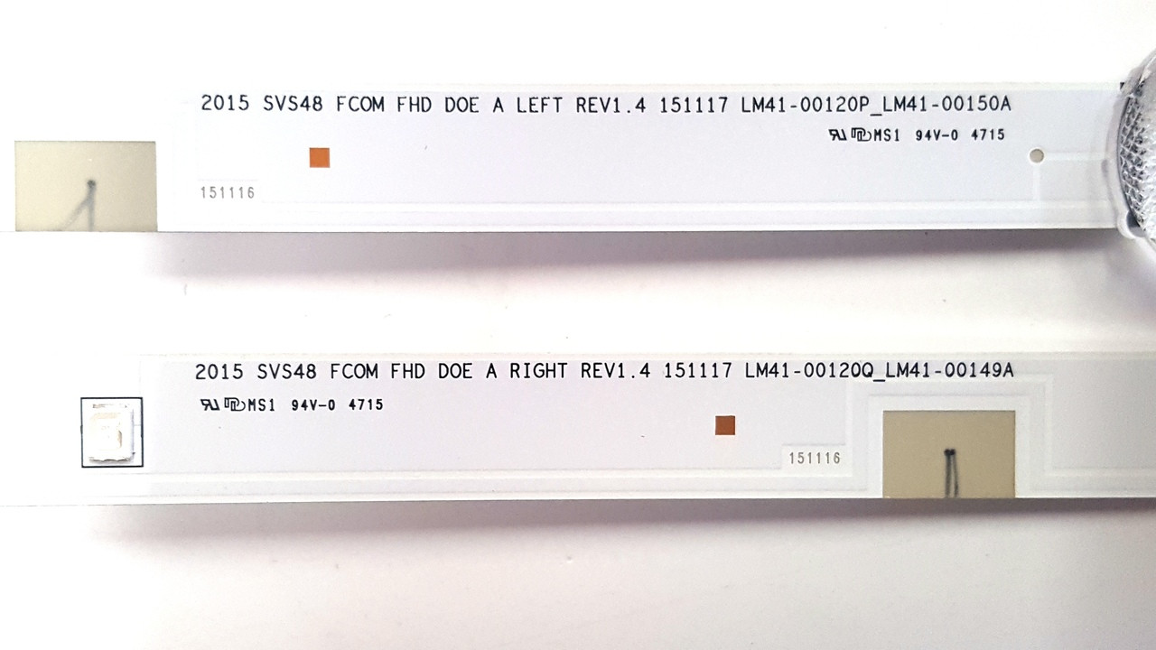 Samsung Complete Backlight  LED Light strips BN96-37296A & BN96-37297A