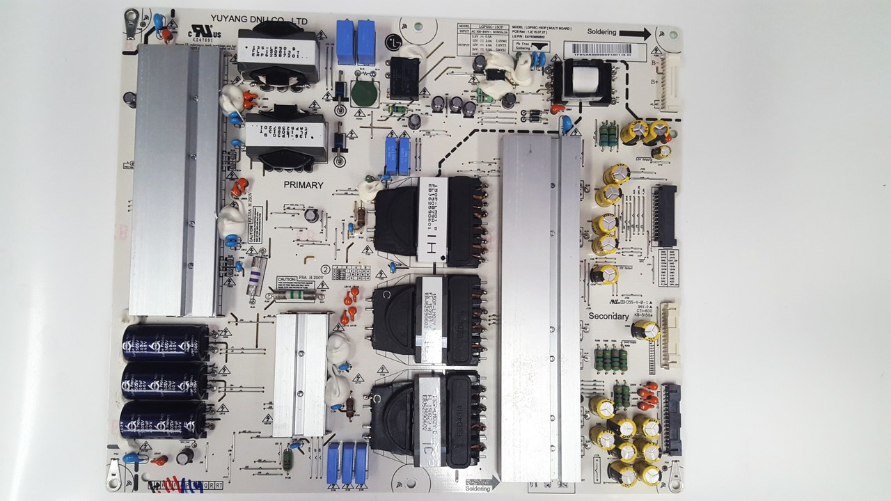 LG 55EG9100 POWER SUPPLY BOARD LGP55C-15OP / EAY63989802