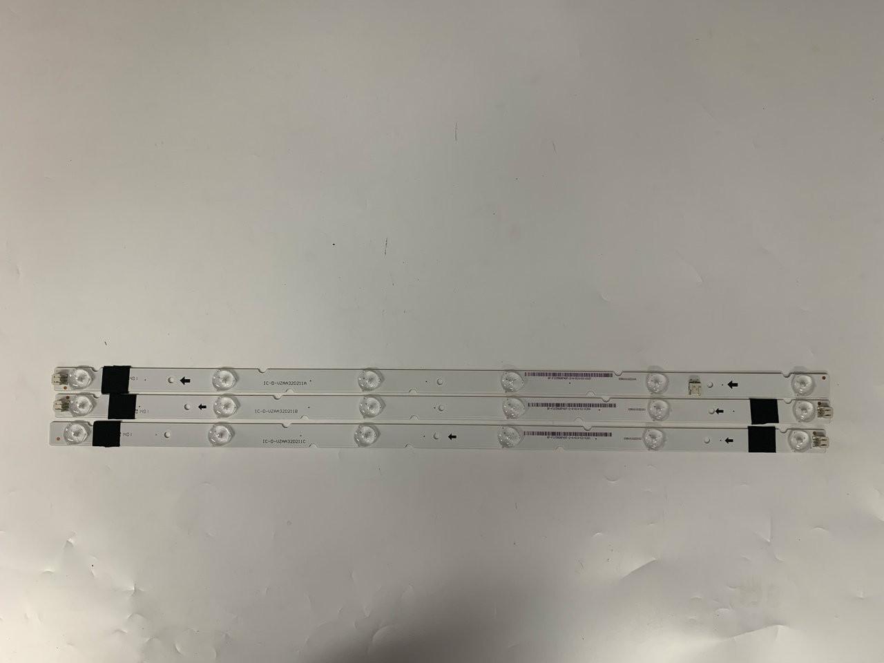 VIZIO E320-B0 IC-D-VZAA32D211A B AND C BACK LED LIGHTS 3 PCS SET