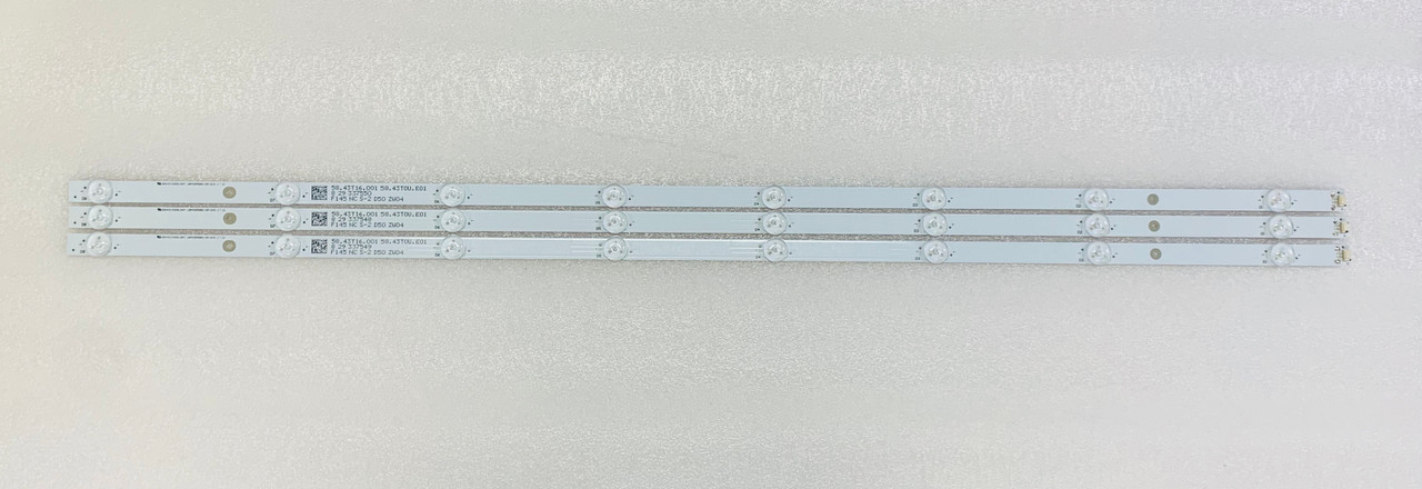Samsung UN43NU6900F LED Light Strips Complete Set of 3 LBM430M0801-DM-3