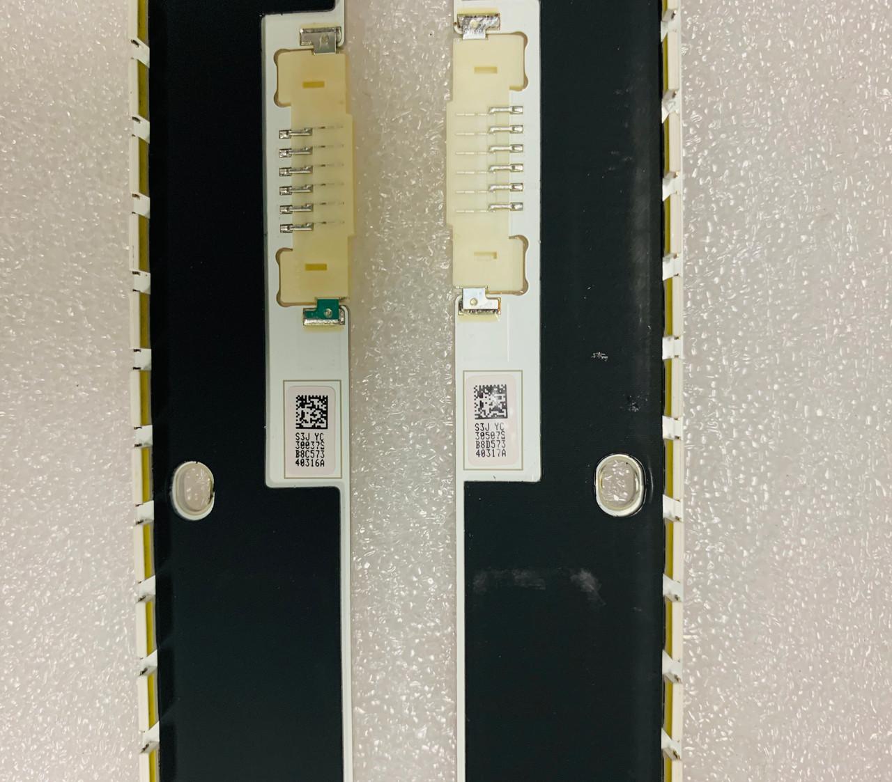 Samsung Original LED Light Strips Complete set in metal bars BN96-40316A & BN96-40317A