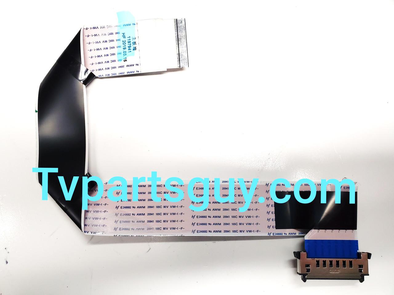 Hisense 43H4030F Main board to Tcon board LVDS ribbon cable 1197941