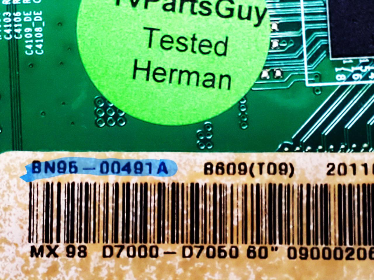 Samsung UN60D7000VF Tcon board BN41-01715A / BN97-05888A / BN95-00491A